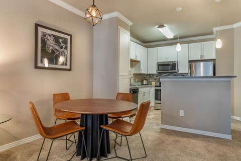 The Lincoln at Towne Square Apartments | Fully Furnished Dining Room
