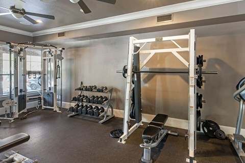 The Lincoln at Towne Square| Fitness Center with Free Weights