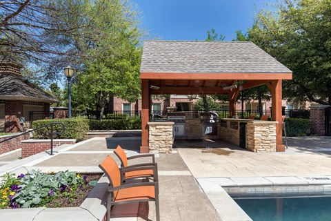 The Lincoln at Towne Square| Covered Grilling Area