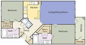 The Lincoln at Towne Square Apartments Celina Floor Plan