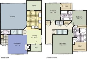 The Lincoln at Towne Square Apartments Gunter Floor Plan