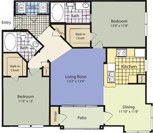 The Lincoln at Towne Square Apartments Melissa Floor Plan