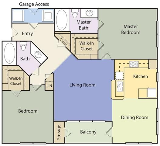 Towne Square Apartments: Floor Plans Of The Lincoln At Towne Square Apartments In