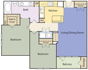 The Lincoln at Towne Square Apartments Princeton Floor Plan