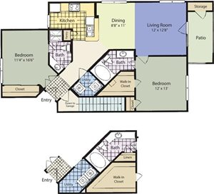 The Lincoln at Towne Square Apartments Savoy Floor Plan
