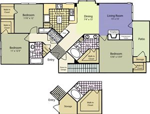 The Lincoln at Towne Square Apartments Sherman Floor Plan
