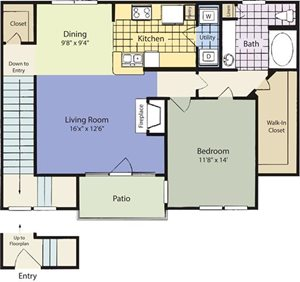 The Lincoln at Towne Square Apartments Weston Floor Plan