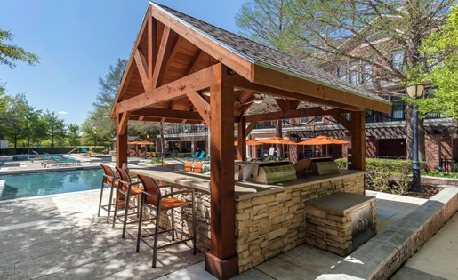 The Lincoln at Towne Square Apartments in Plano, TX Covered Grilling Area
