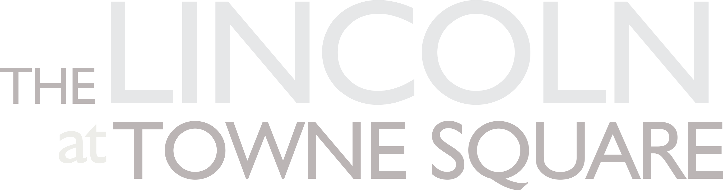 The Lincoln at Towne Square | Property Logo Off White