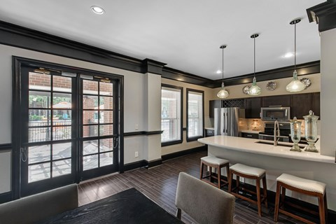 The Lincoln at Towne Square Apartments in Plano, TX Resident Clubhouse with Kitchen