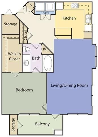 Floor Plans of The Lincoln at Towne Square Apartments in ...