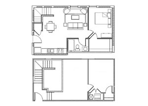 One Bedroom/One Bath Loft