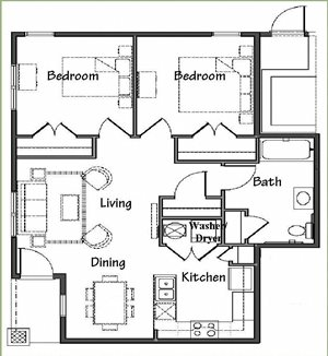 Two Bedroom/One Bath Flat