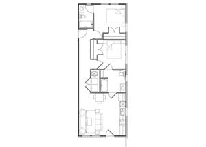 Two Bedroom/ Two Bath