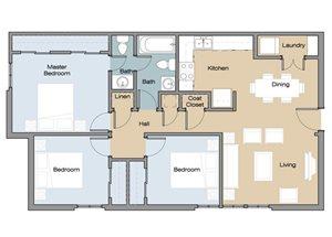 Three Bedroom/ 1.5 Bathroom