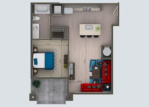 1 Bedroom/ 1 Bath G