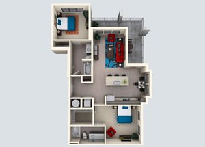 2 Bedroom / 2 Bath H