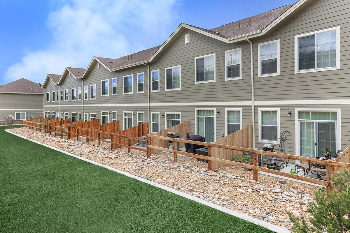 Patios at Black Feather Apartments in Castle Rock, CO