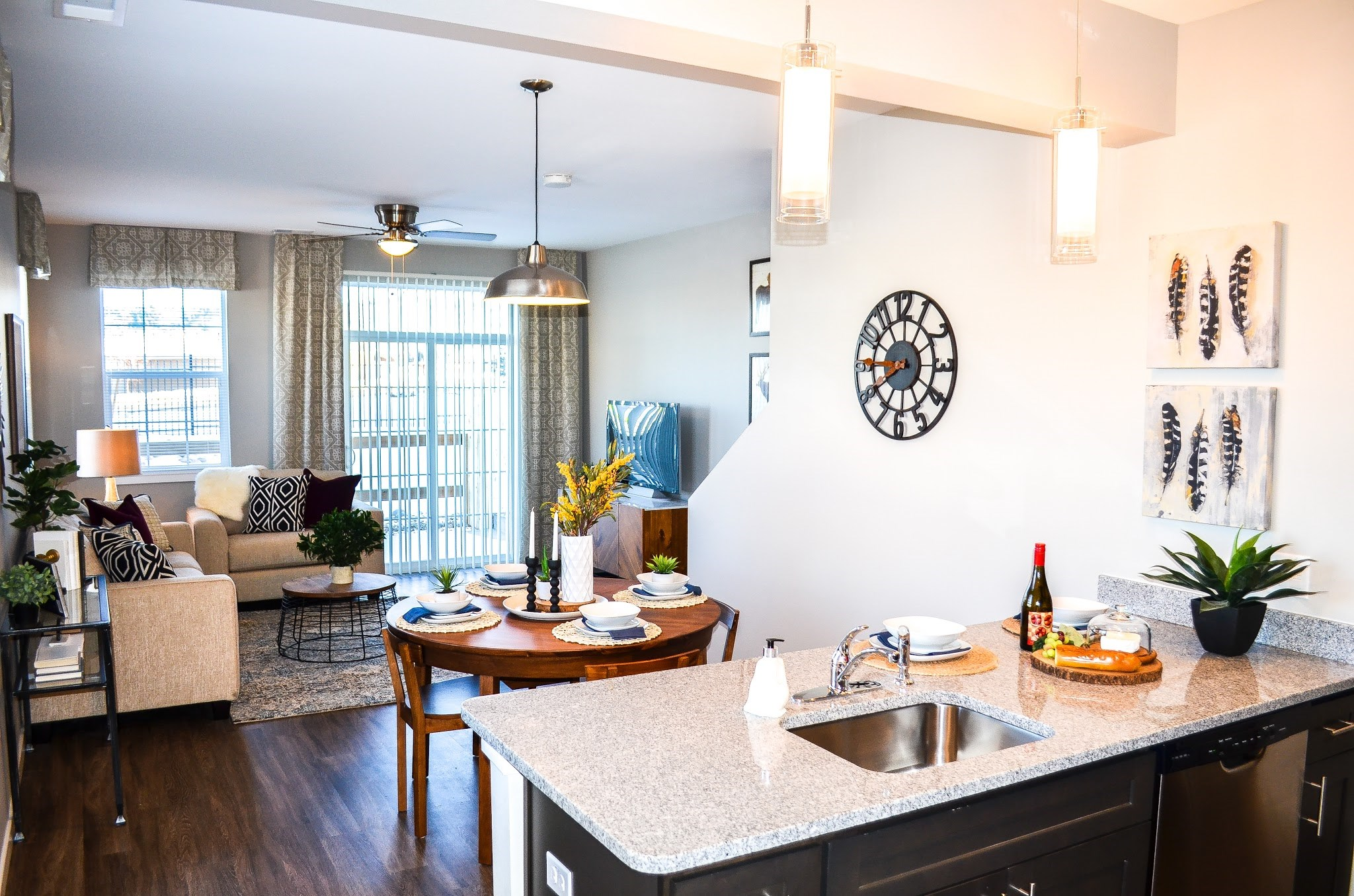 Open Living Spaces at Black Feather Apartments in Castle Rock, CO