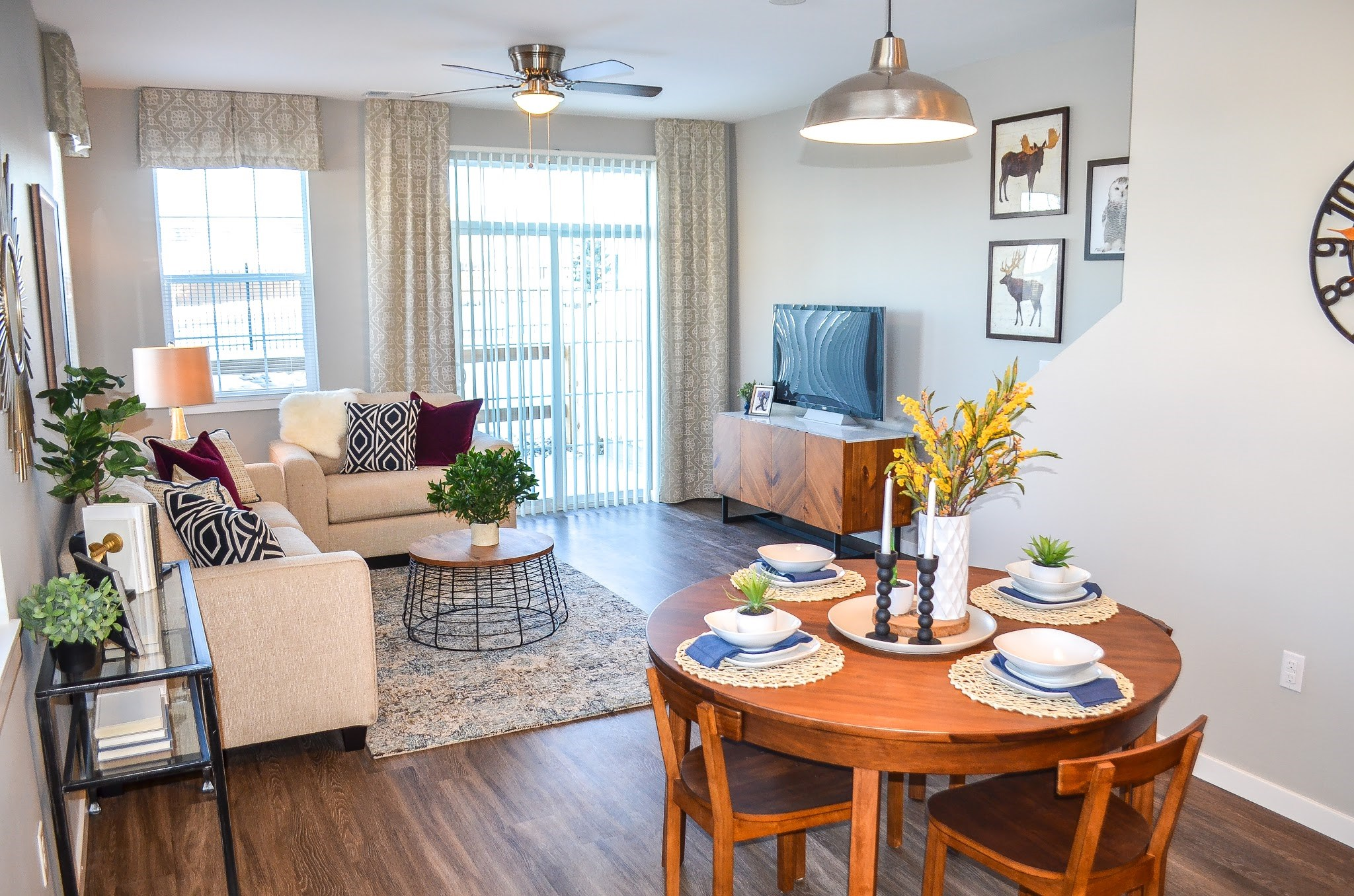 Living Room at Black Feather Apartments in Castle Rock, CO