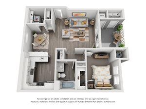 1 Bedroom Apartment Floorplan in Meridian Idaho