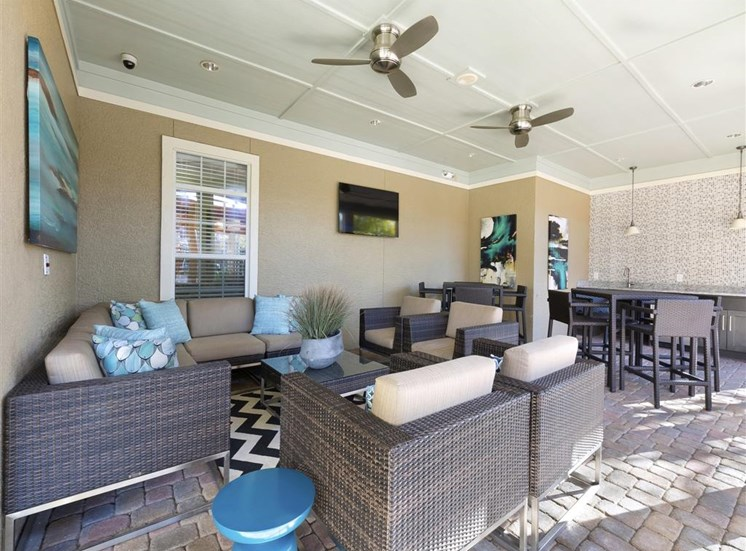 Outdoor lounge at Indigo Pointe, 3030 Bardin Road, TX 75052