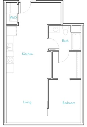 1 Bedroom B- Henshaw