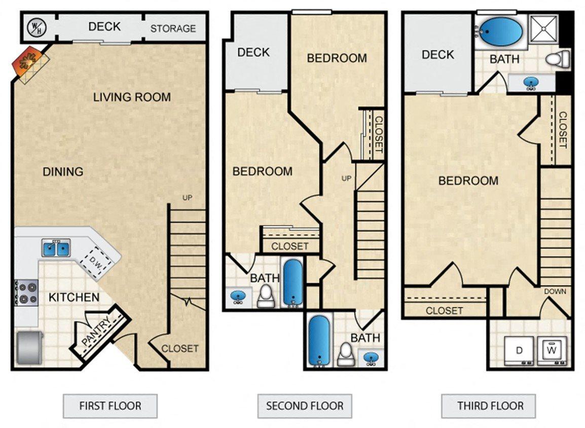 3x3 Floor Plan 1