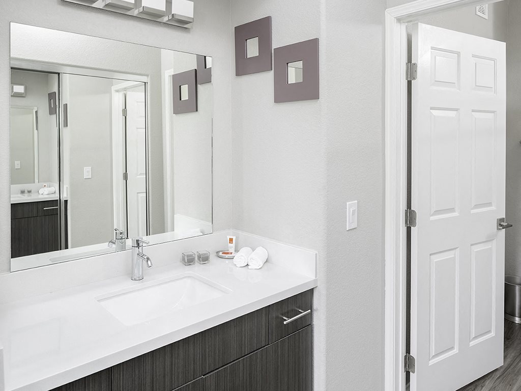 Bathroom at Solana Ridge apartments in Temecula CA