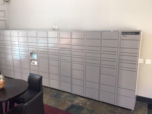 Amazon HUB Lockers at NEO Midtown Apartments in Dallas, TX