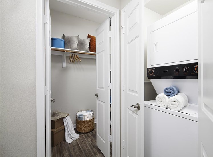 Washer and dryer at Neo Midtown Apartments in Dallas, TX