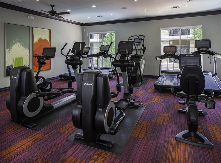 Fitness Room at Neo Midtown Apartments in Dallas, TX