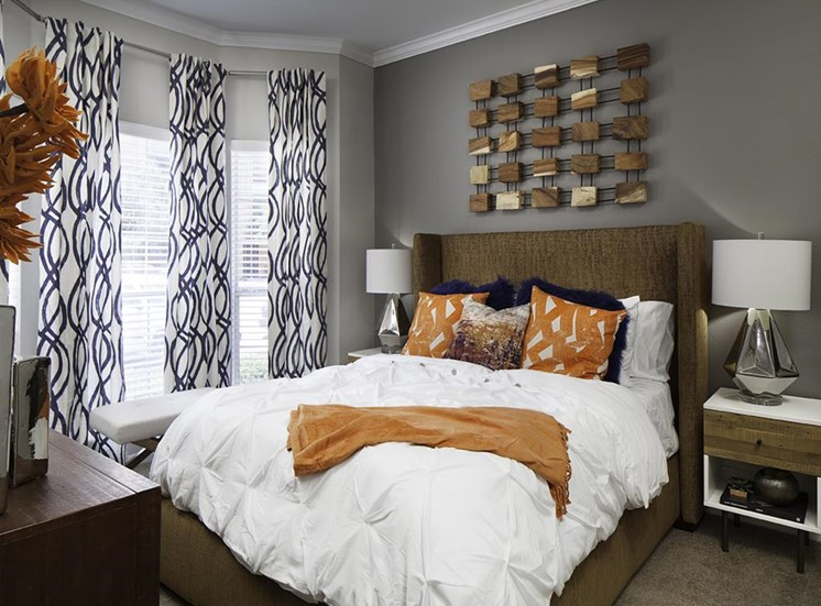 Bedroom at Neo Midtown Apartments in Dallas, TX
