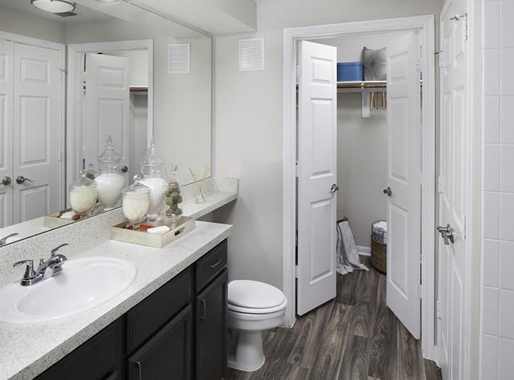 Bathroom at Neo Midtown Apartments in Dallas, TX