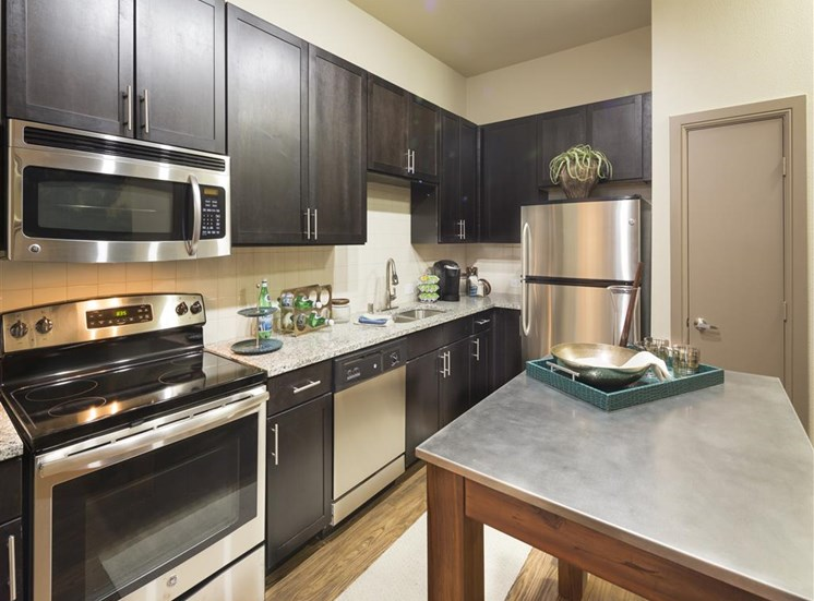 Kitchen at Neo Midtown Apartments in Dallas, TX