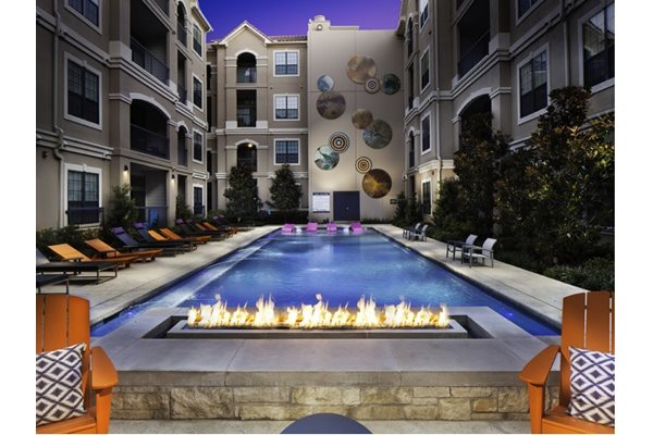 Seasonal Beautiful Outdoor Swimming Pool at Neo Midtown, 14151 Noel Rd, Dallas, TX