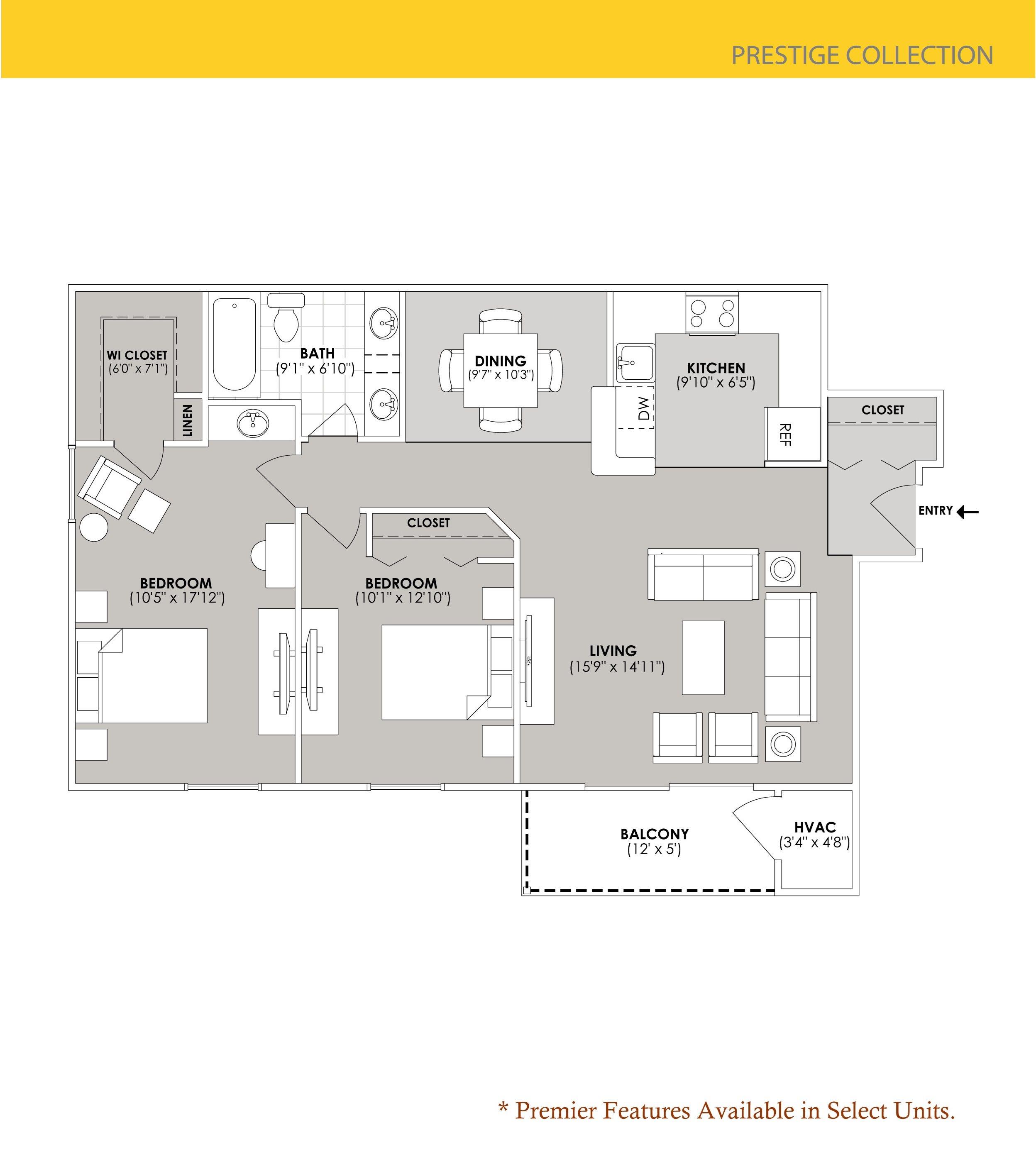 Floor Plans Of Hidden Lakes Apartments In Grand Rapids, MI