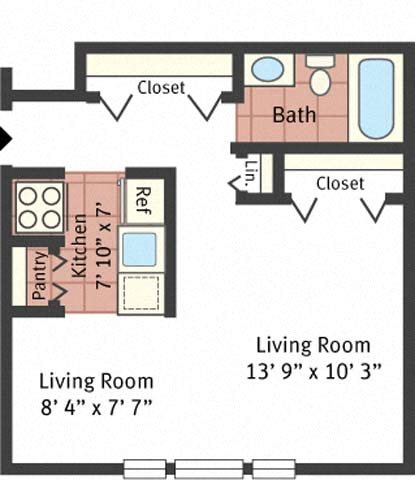 Studio Model Floor Plan 1