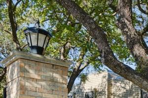 Beautiful garden entrance in Austin, TX