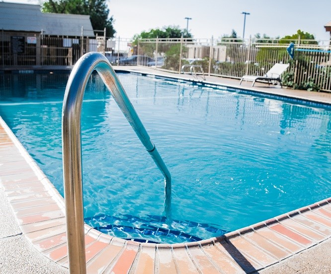 Sparkling pool at Cantera Apartments, El Paso, TX