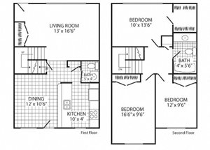 3 bedrooms 1.5 baths Townhome