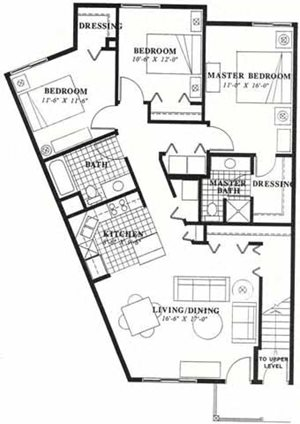 Three Bedroom Two Bath Townhome (Large)