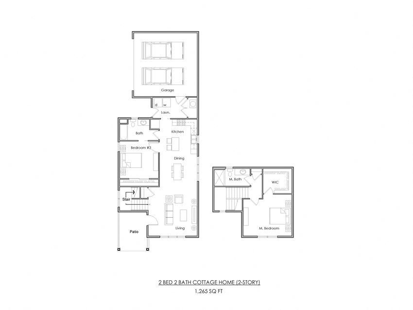 Cottage Homes - 2Bed/2Bath 2-STORY