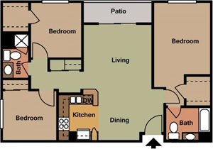 Wood Plank Floors with Central Air and Heat, Patio, yard or balcony, reserved parking, dog park