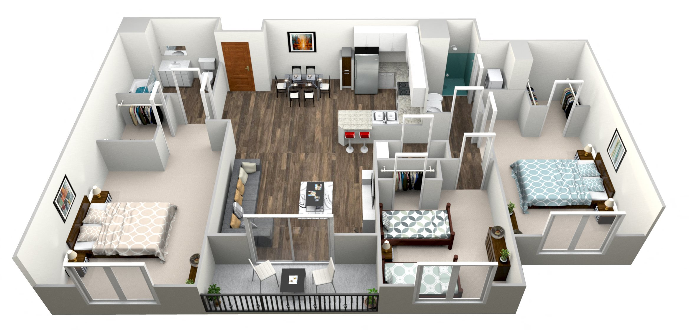 3 Bed 2 Bath G Floor Plan 7