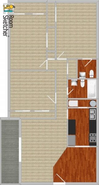 3 bed 1-1/2 baths, remodeled Floor Plan 9