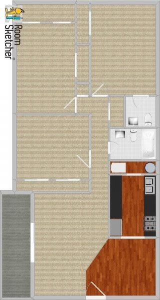 3 bed 1-1/2 baths, standard Floor Plan 10