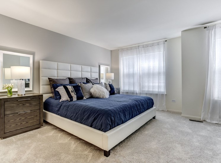 Modern Master Bedroom at The Retreat at Danada Farms, Wheaton, IL, 60189
