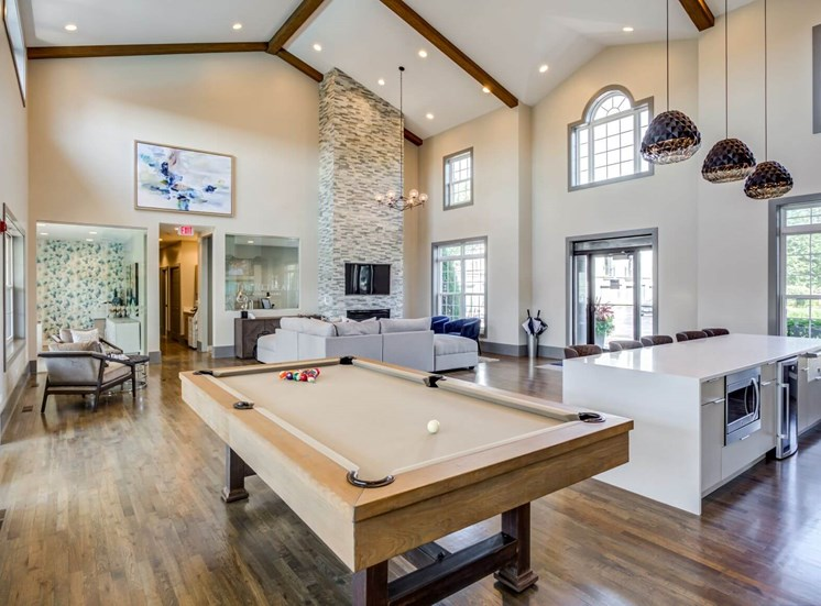 Game Room with Billiards at The Retreat at Danada Farms, Wheaton, 60189