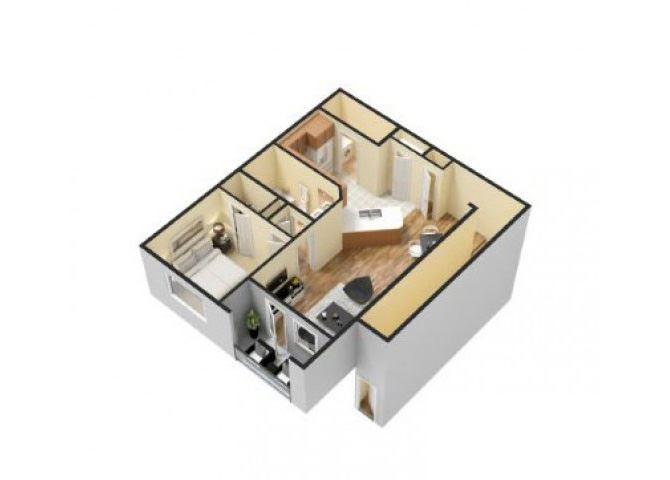 1x1 Floor Plans Apartments For Rent in Waco Texas